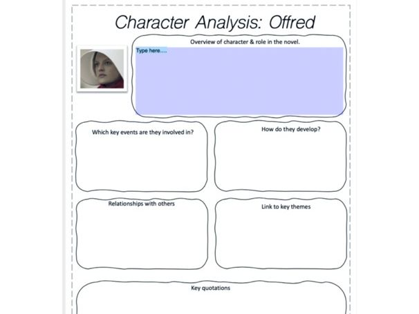 Character Lesson: The Handmaid's Tale (A-Level)