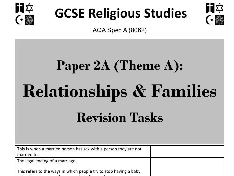 Themes revision activities bundle for AQA GCSE Religious Studies Paper 2