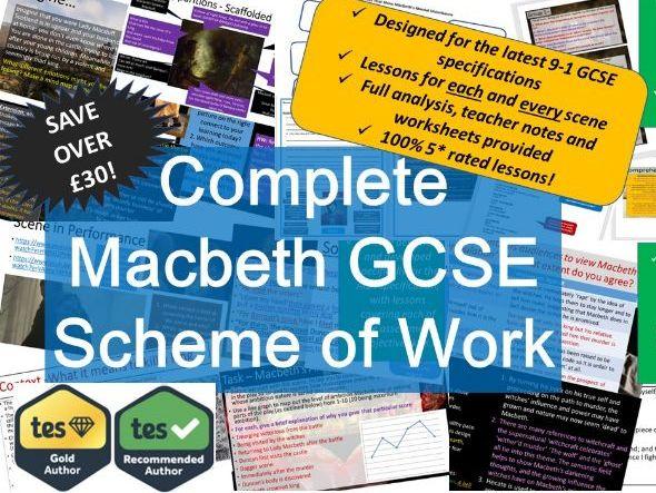 Macbeth GCSE Full Scheme of Work. 9-1 English Literature