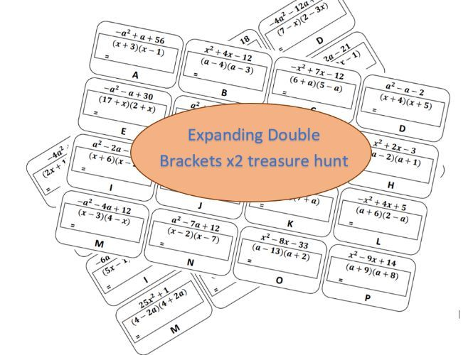 Expanding Double Brackets Treasure Hunts
