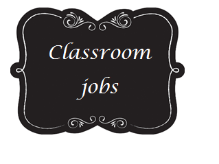 Classroom jobs display elegant/fancy chalkboard theme KS1 KS2