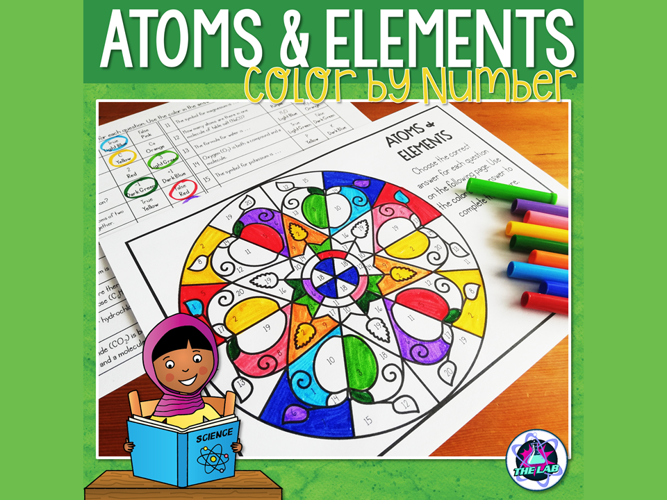 Atoms and Elements Colour by Number Activity