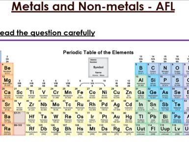 KS3 Metals & Non-metals six mark Question