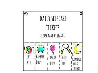 FREE Downloadable Self Care Cards  - 4 x A5 Staff & Student Wellbeing Cards.