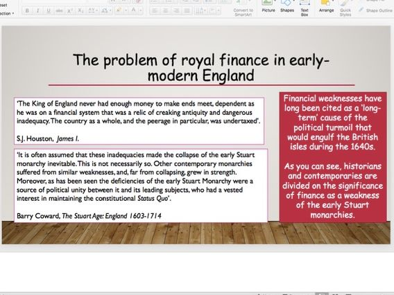 Financial methods of the Crown in the reign of James I