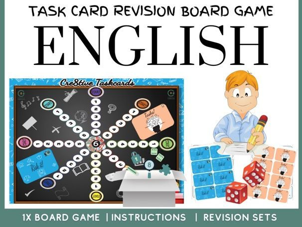 English Revision Board Game