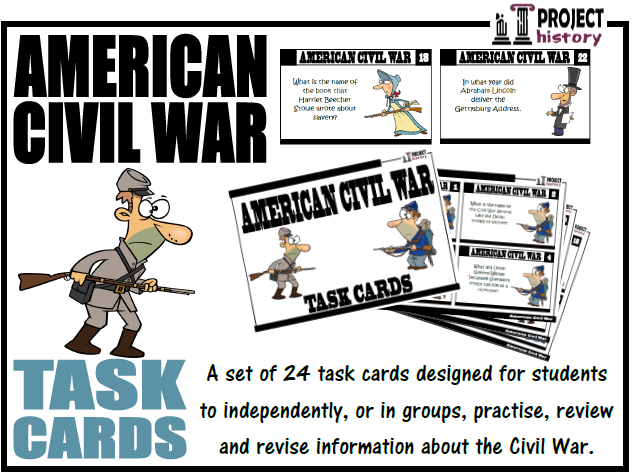 American Civil War Task Cards