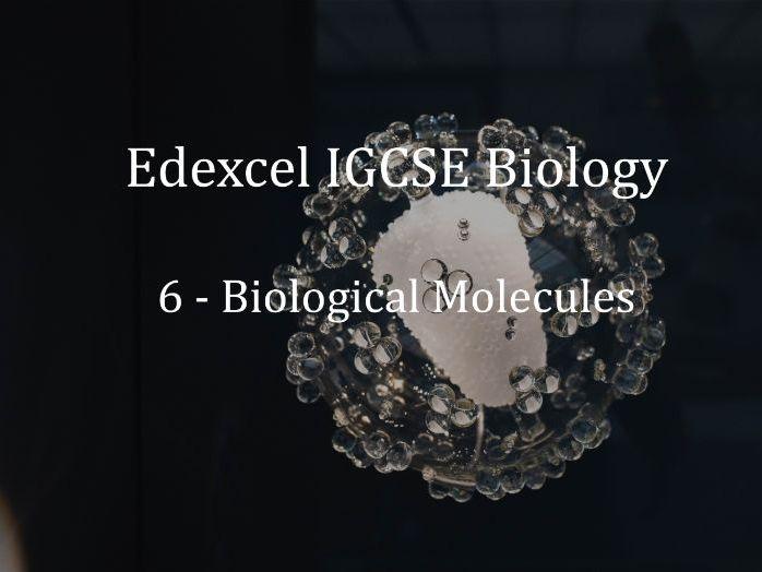 Edexcel IGCSE Biology Lecture 6 - Biological Molecules