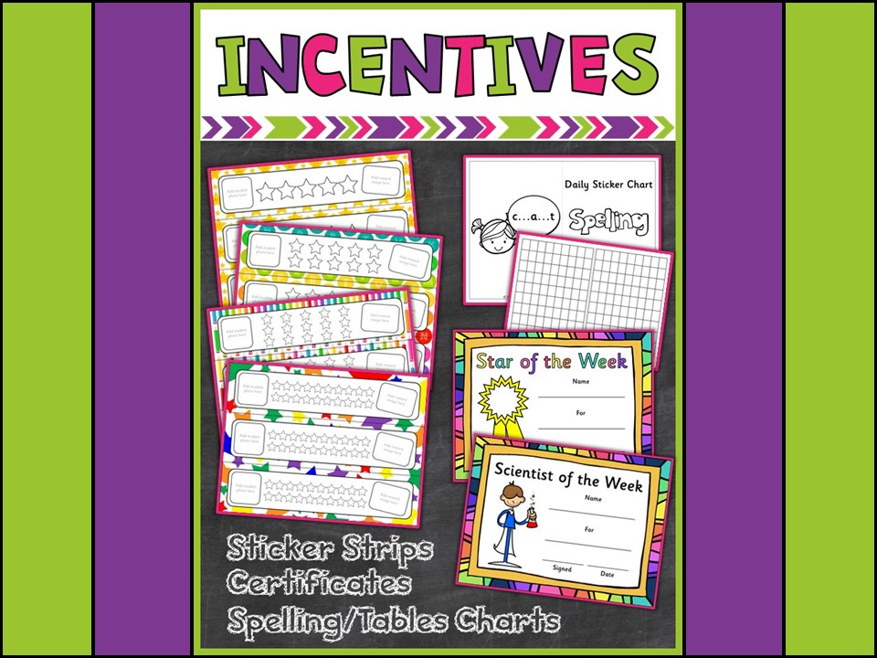 Back to School Rewards:  Reward Strips,  Sticker Incentives, Certificates