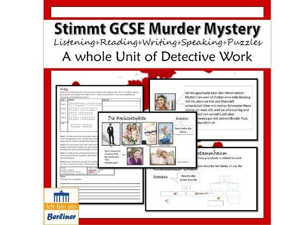 Stimmt GCSE Murder Mystery – Menschliche Beziehungen (Chapter 3)