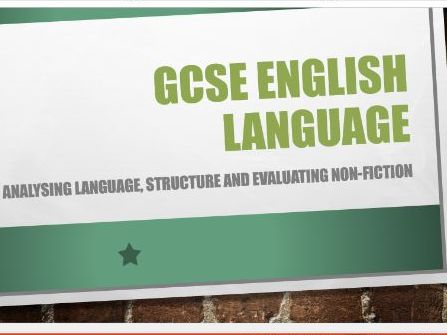 GCSE English Lang. Paper 2: analysis of language, structure and evaluation responses