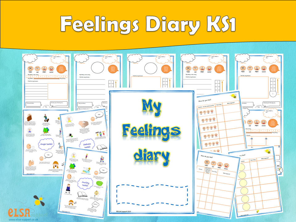 ELSA SUPPORT Feelings diary KS1, EMOTIONS, FEELINGS, EMOTIONAL LITERACY, PSHE