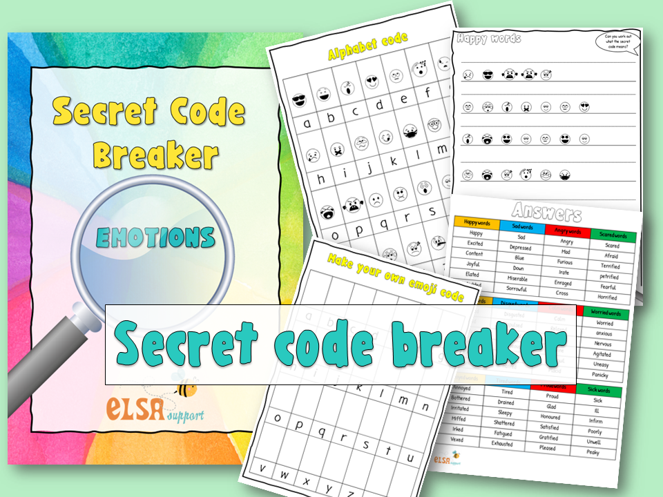 Emoji code breakers for emotions brilliant for home learning