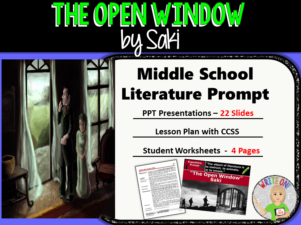 the open window by saki analysis The open window analysis the open window by: saki (1870-1916) exposition: my aunt will be down presently, mr nuttel, said a very self-possessed.