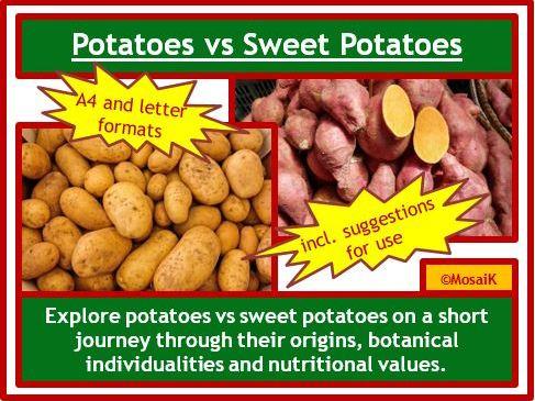 Sweet Potatoes vs Regular Potatoes