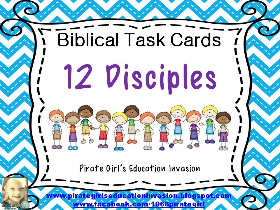 Bible Task Cards: 12 Disciples