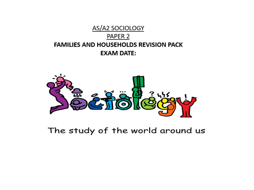 AQA Sociology Families and Households Revision workbook