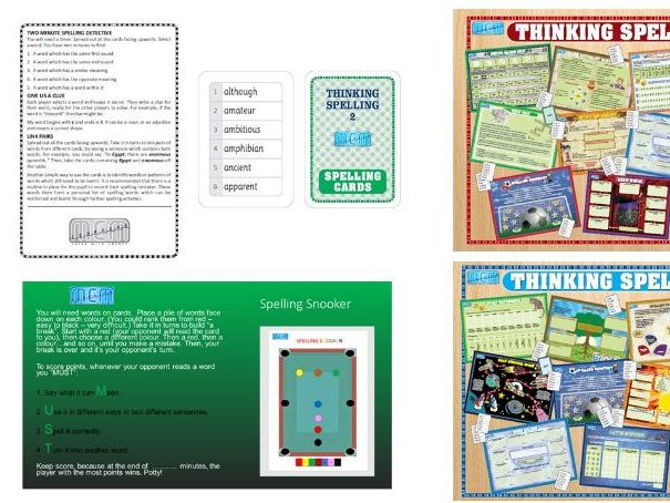 A bundle of key stage 2 and 3 spelling resources