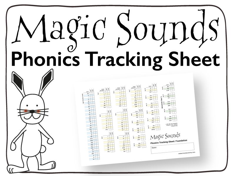 Phonics Tracking Sheet: Foundation Stage - One Page Tracking