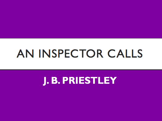 An Inspector Calls full SOW 8 weeks
