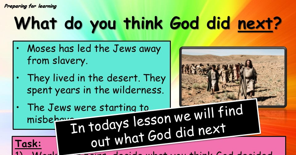 Ten commandments - detailed powerpoint and worksheet