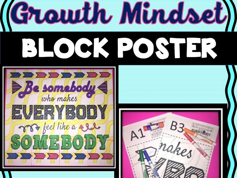Growth Mindset Collaborative Poster! Team Work Activity - Team Building