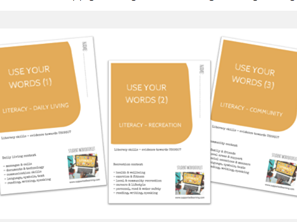 SEN DAY-TO-DAY LITERACY BUNDLE  - (1)-(3) THEMES X3 workbooklets