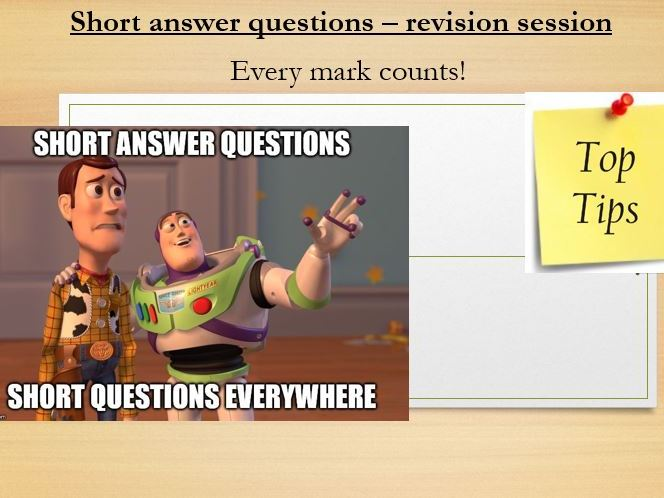 GCSE Geography short-answer revision