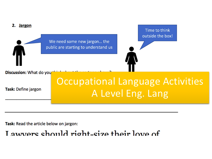Language and Occupation Activities | Theorists, Transcript Analysis, Jargon, Practice Questions