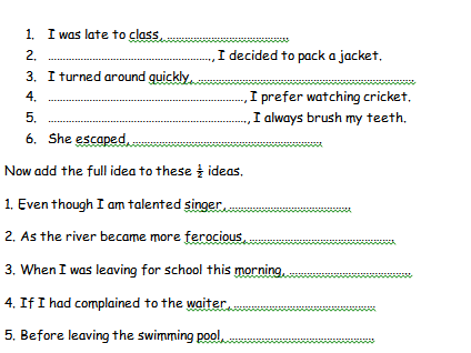 Simple, compound and complex sentences worksheet