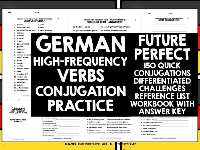 GERMAN HIGH-FREQUENCY VERBS CONJUGATION 7