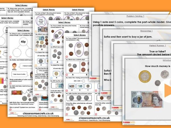 Year 2 Select Money Autumn Block 3 Step 4 Maths Lesson Pack