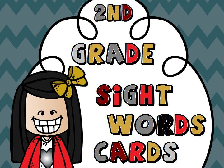 Second Grade Sight Words Cards - Autumn Themed