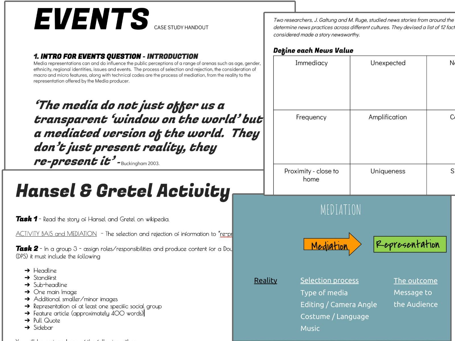 Middle school media concepts and theory resources