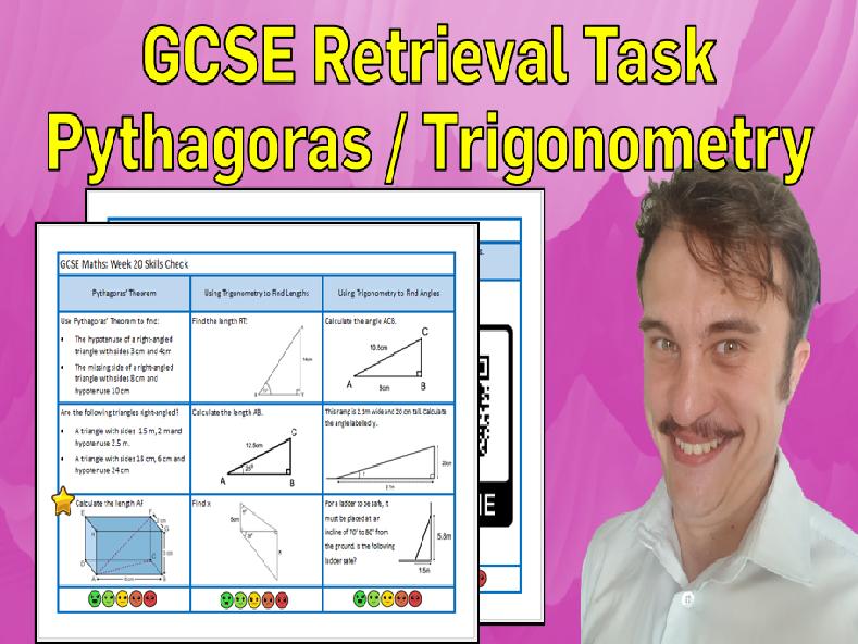 Pythagoras' Theorem and Trigonometry GCSE Foundation/Resit Retrieval Sheet