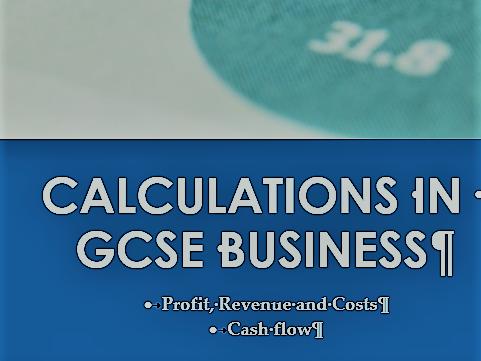 GCSE Revision notes Cash flow