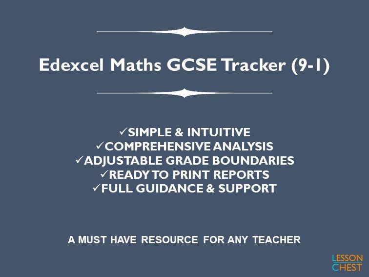 Edexcel Maths GCSE Exam Tracker (9-1)