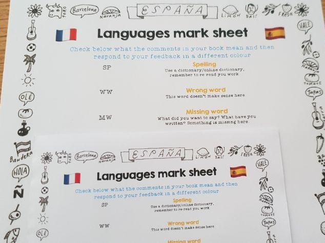 Simple languages feedback abbreviation list