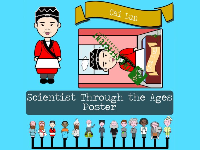 Cai Lun - Scientists Throughout The Ages A3 Poster File