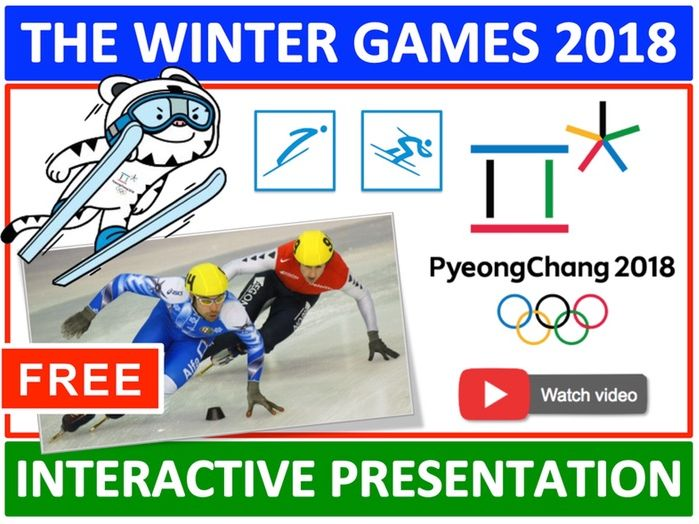 Winter Olympics 2018  Lesson/Assembly Presentation