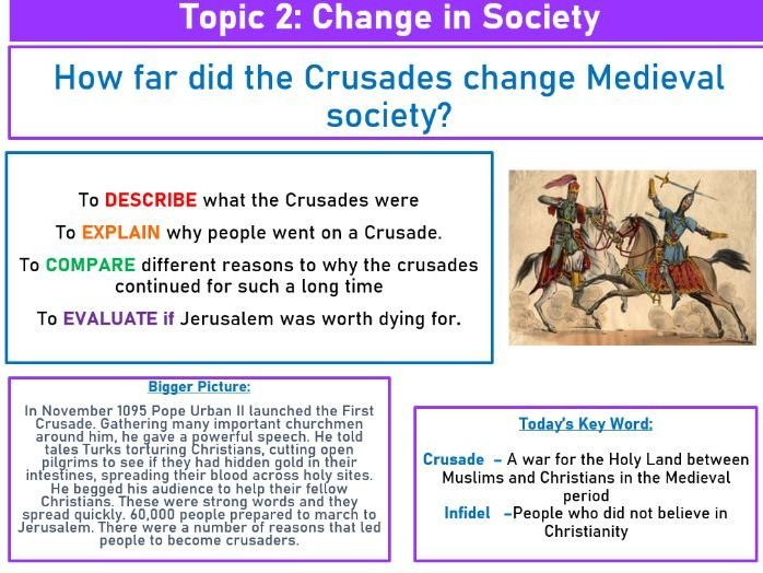 How far did the Crusades change Medieval society?