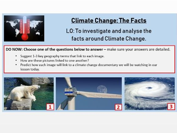 Climate Change - The Facts Documentary Lesson