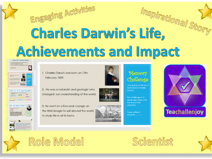 Darwin Day Assembly Lesson Activity Pack