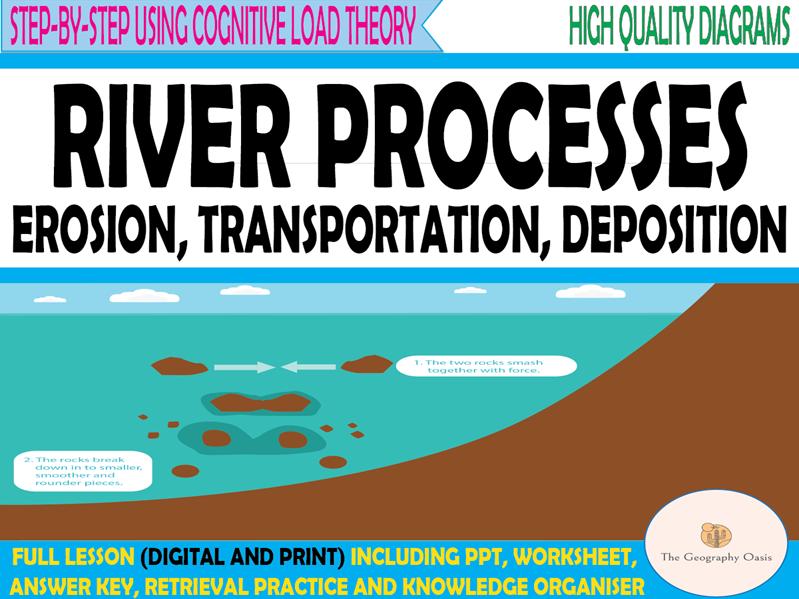 River Processes- erosion, transportation and deposition.