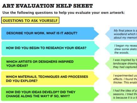 Art Evaluation Help Sheet