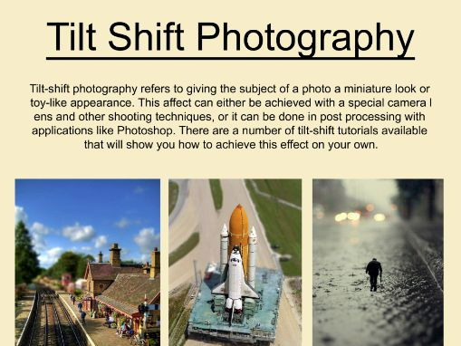 Art and Photography Tilt Shift Poster