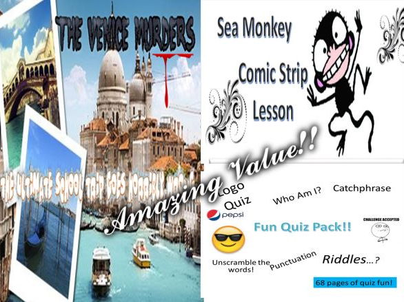 The Venice Murders + Sea Monkey + Fun Quiz Pack