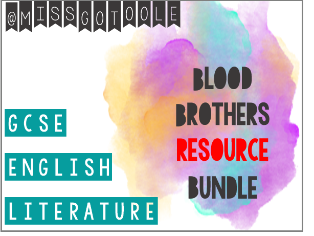 Blood Brothers RESOURCE Bundle (AQA)