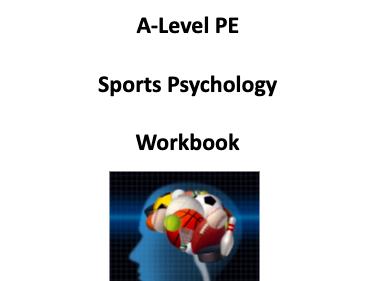 A-Level PE (OCR) Sports Psychology Bundle