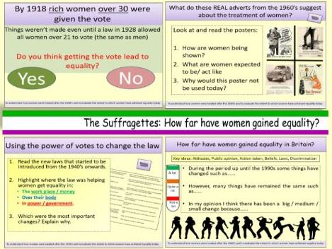 The Suffragettes: To what extent have women gained equality in Britain today?